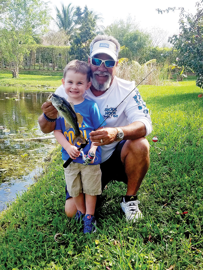 Three-year-old JoJo nabbed his first bass