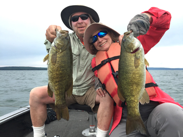Stan and karen miller on lake superior coastal angler for Crappie fishing in ga