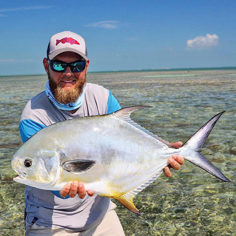 Capt Jordan Todd out checking off bucket list fish with this nice permit.