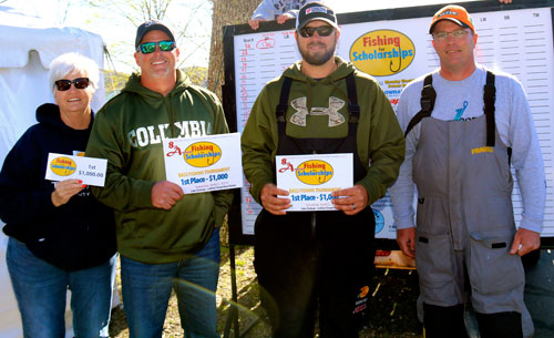 9th annual fishing for scholarships bass tournament for Bass fishing scholarships