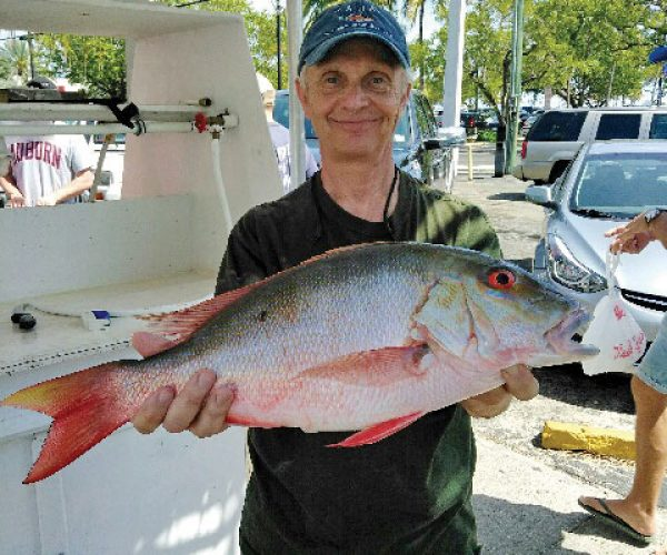 George with a nice mutton snapper