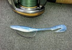 This Buzztail Shad is rigged and ready for action!