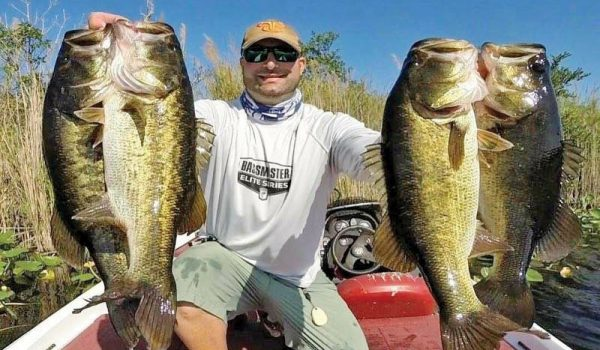 Josh Roller with a big bag of Everglades bass.