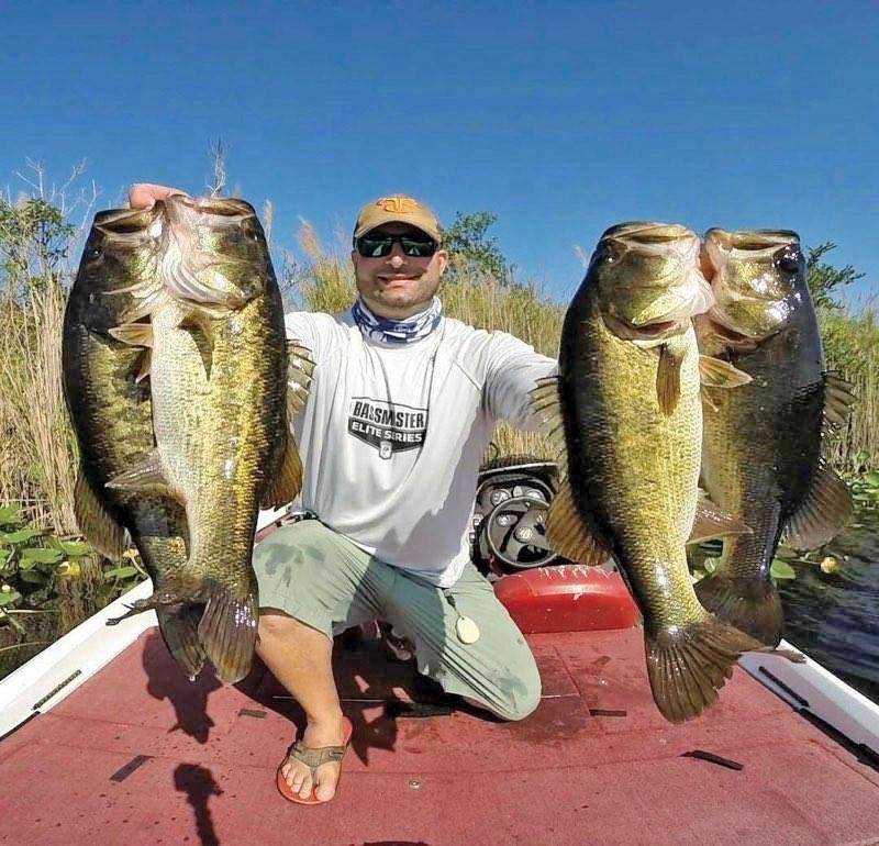 Josh Roller with a big bag of Everglades bass.