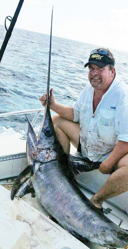 Bubba with his sweet swordfish