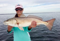Abigail Posey with a nice 27 inch redfish