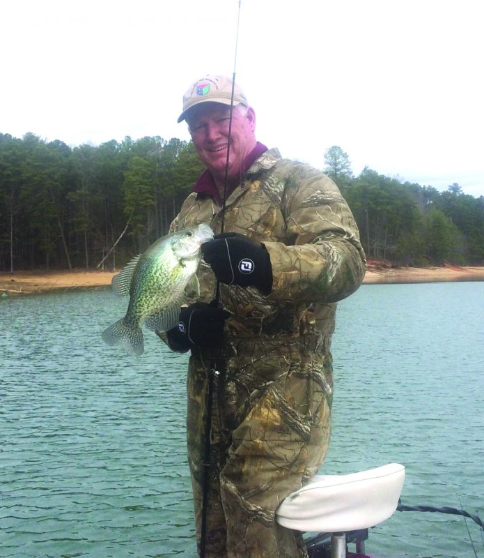 Jim gillespie with a nice early spring crappie coastal for Lake acworth fishing