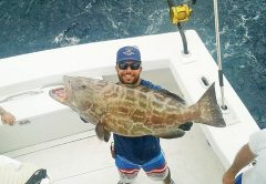 Bobby with a big black grouper
