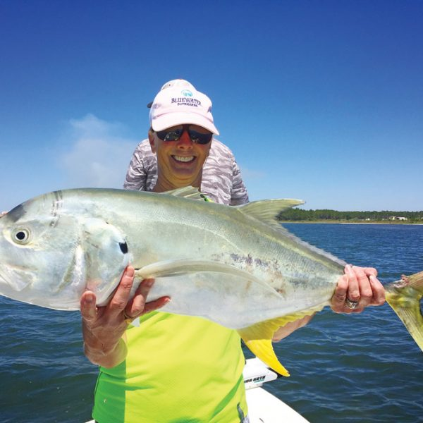 Traci Posey from Leesburg, GA with a big Jack Crevelle