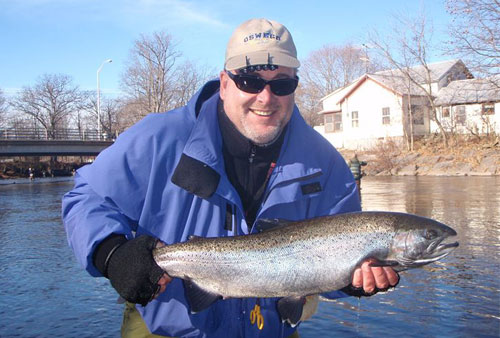 Salmon river steelhead report coastal angler the for Salmon river ny fishing report