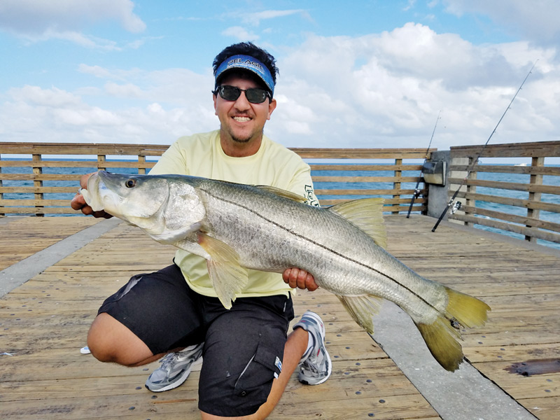 Chris Pascual Caught And Released This Snook At The Dania Beach Pier