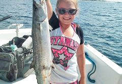 Kaleigh Wright won the battle with this king on the Adrenaline boat.