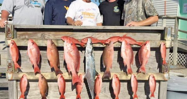 Nice haul aboard the Kitchen Pass with Capt. James Tew.