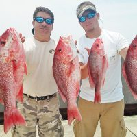 Ricky and Nick Gatlin got their limit in the bay with Capt. Jason.