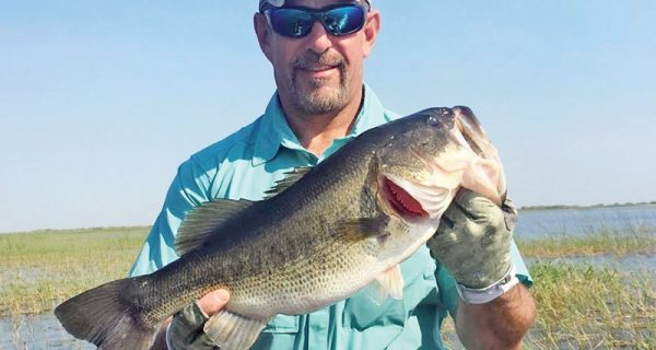 Capt Neal Stark with a Lake Okeechobee Bass.