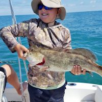 """Ethan Meadows caught this 28"""" Gag Grouper in South of Carrabelle, FL"""