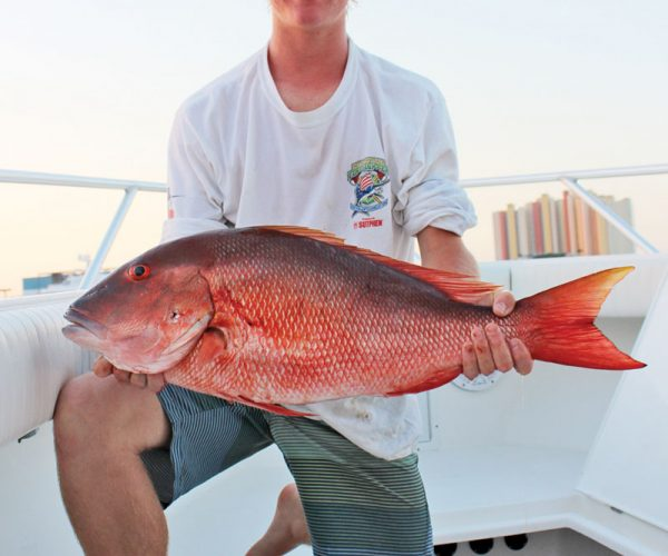 Ron O'Brien with his fat mutton snapper.