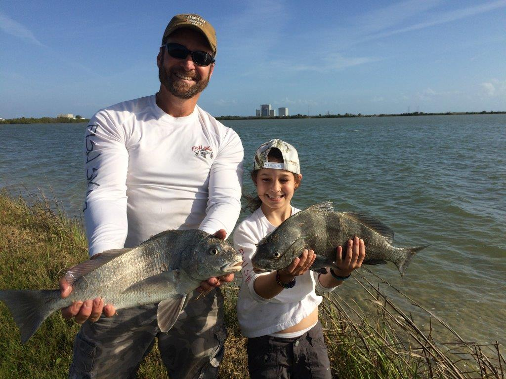 Mike and haylie miller fishing in the banana river itl for Murphy s hook house fishing report