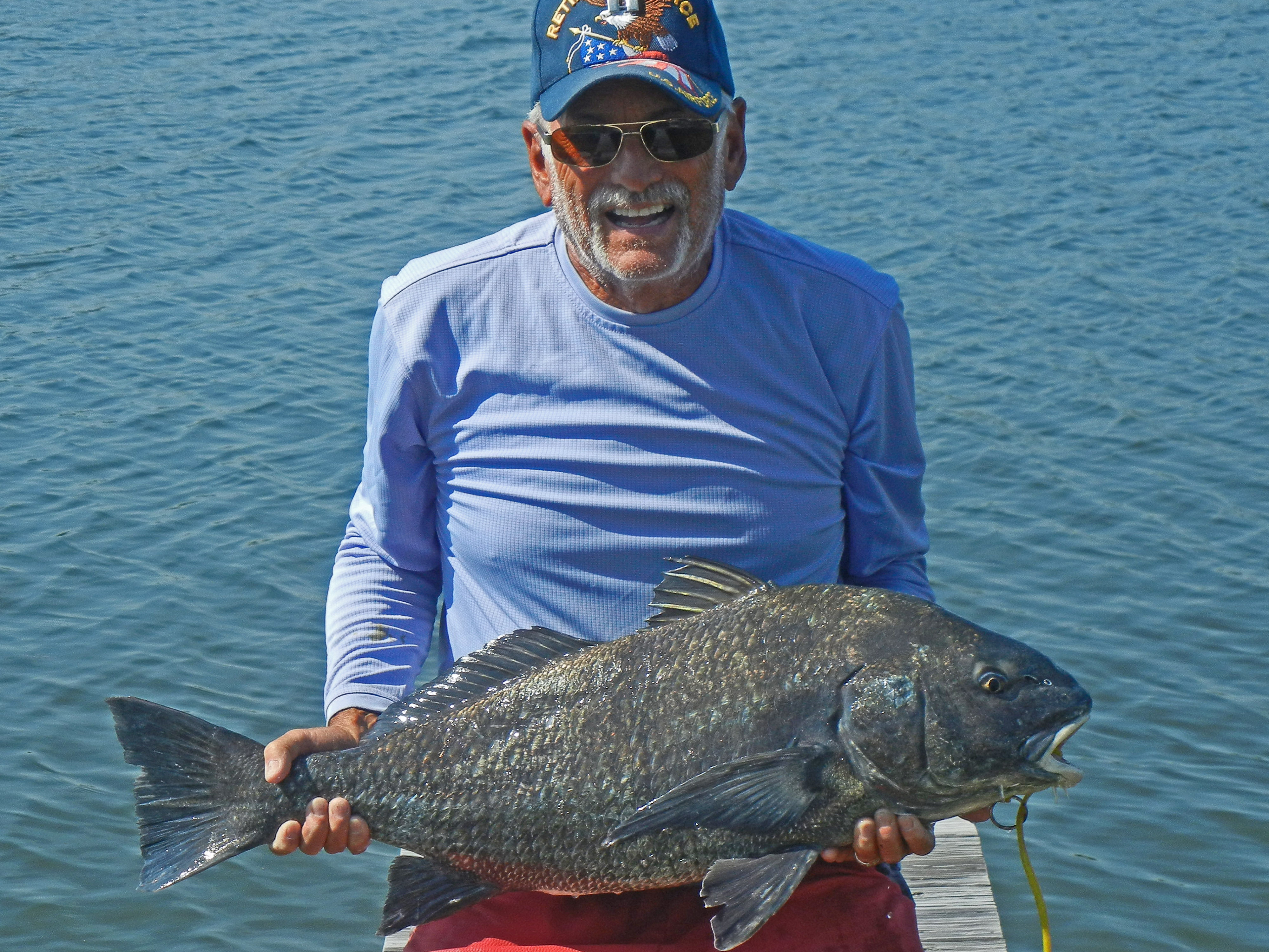 Steve sigler with 19 lb black drum caught in 1000 island for Murphy s hook house fishing report