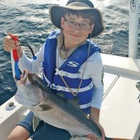 Brody from GA reeled this reef donkey in all by himself...mostly.