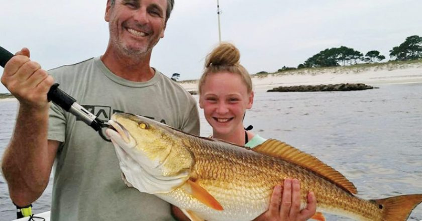 James Mclain And Daughter Kyra Of Panama City With A Monster Beach Fishing Reports