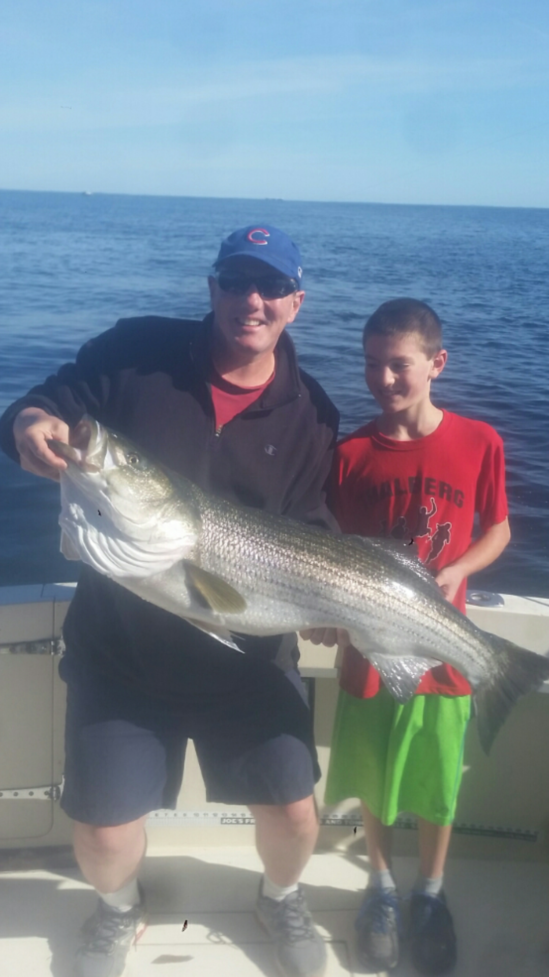 August catch of the month father son jamie jay matthews for Matthews fishing report