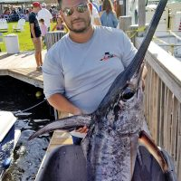 Kenny from Carl's Bait and Tackle with a nice swordfish caught off Ft Lauderdale.