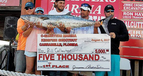 First place team Bill Collector with their winning 47 lb. king. Todd & Jessica Welch, Gage Pitman, David Bramblett & Page Pitman.