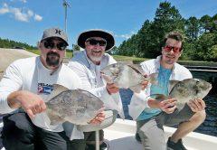 The Peevy clan haulin triggerfish.