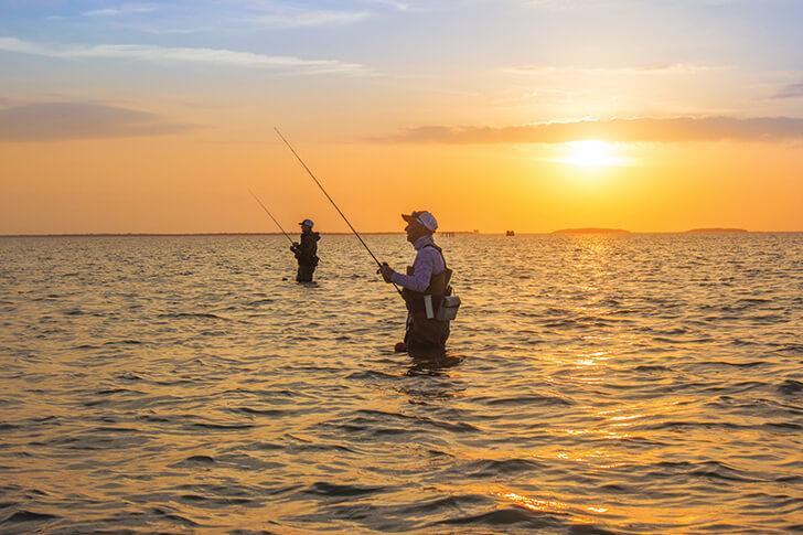 A wade fishing pilgrimage to south texas coastal angler for Wade fishing gear