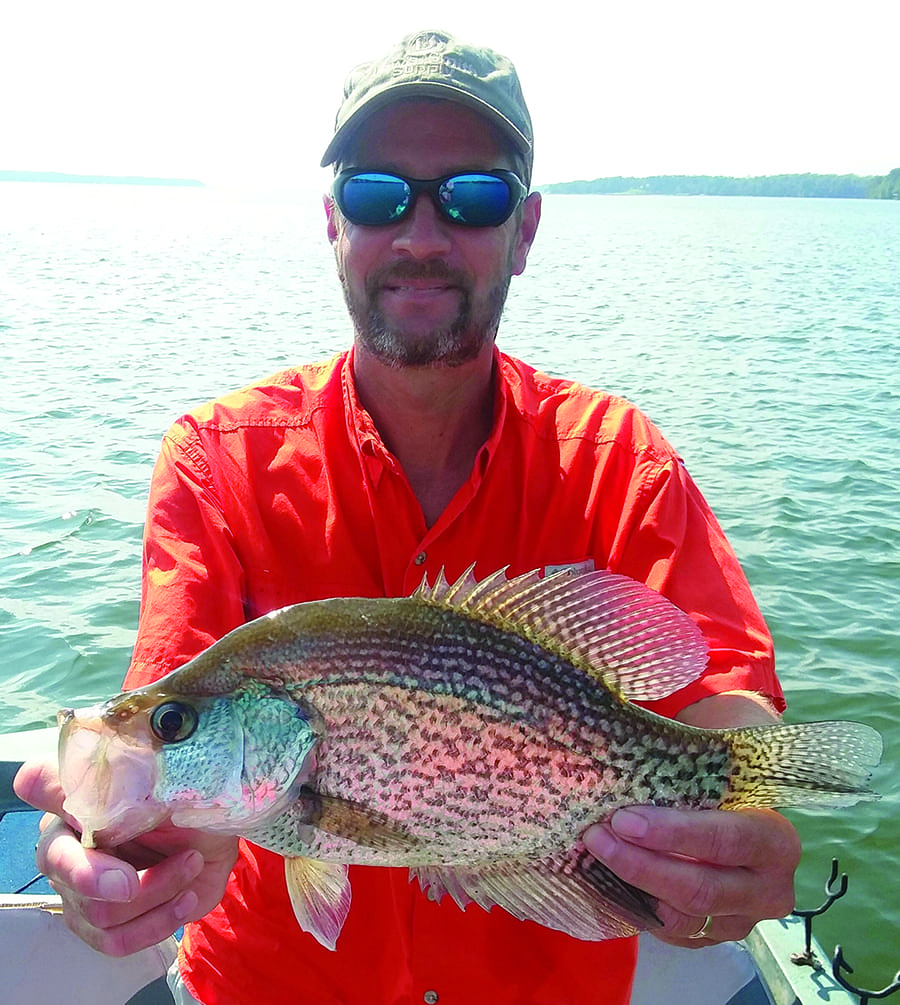 Bryan alexander with a nice crappie coastal angler the for Lake bryan fishing