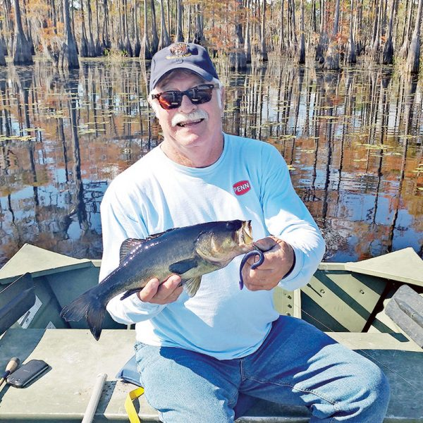 Capt Stan with a nice bass from the Carter's Tract.