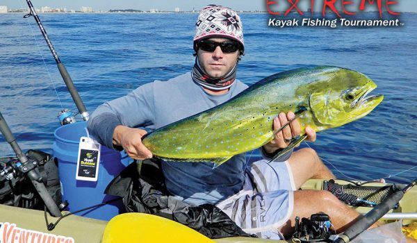Joe Hector landed this mahi after it ate his pilchard off Pompano Beach.