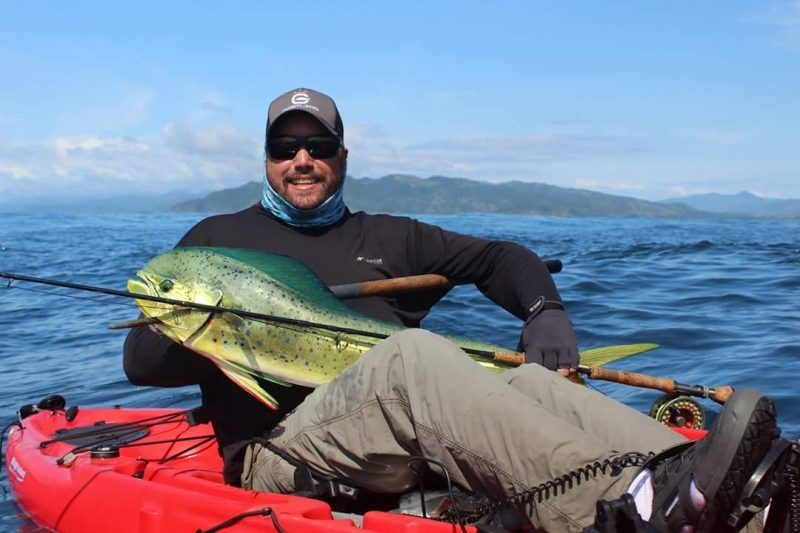 Chuck Levi spent some time kayak fishing at Los Buzos Lodge in Panama and was rewarded with an awesome fly rod caught Pacific mahi