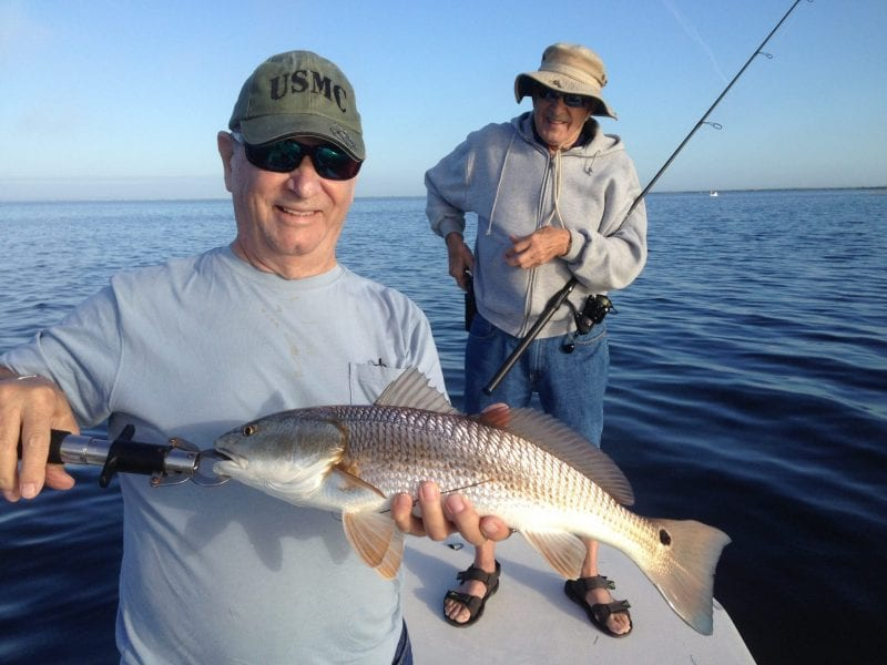 Redfish will be roaming the flats of the Banana River Lagoon during calm weather periods between cold fronts this month.