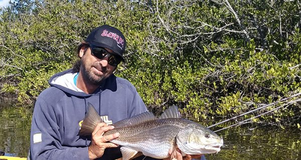 A slow approach and high sun were the ticket for this sightfished red for Capt. Alex of LocalLinesChaters.com