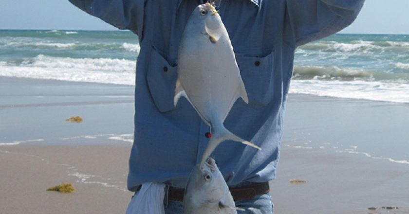 Gene with his two keeper pompano.