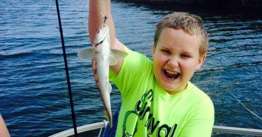Capt Troys son Alex with a nice Indian River whiting