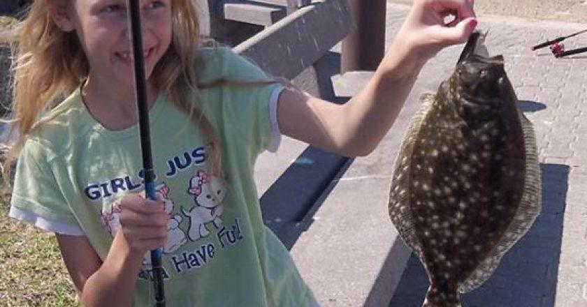 Madison Ellis with a nice flounder