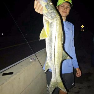 "Matt Enke w/ a 30"" snook, quickly released"