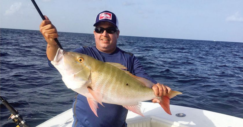 Capt. Orly with a nice mutton snapper.