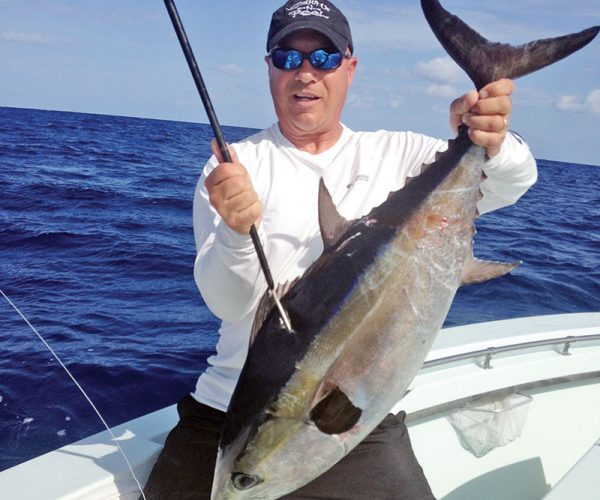 Stud blackfin tuna caught with Nomad Fishing Charters.
