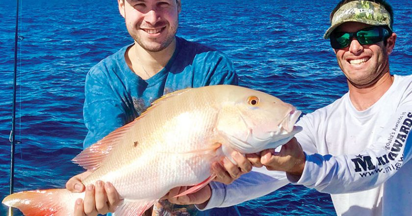 Nice mutton snapper caught aboard Bouncer's Dusky 33.