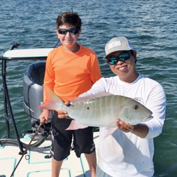 Anthony Acosta slayed this nice mutton snapper in South Biscayne Bay with a live pilchard.