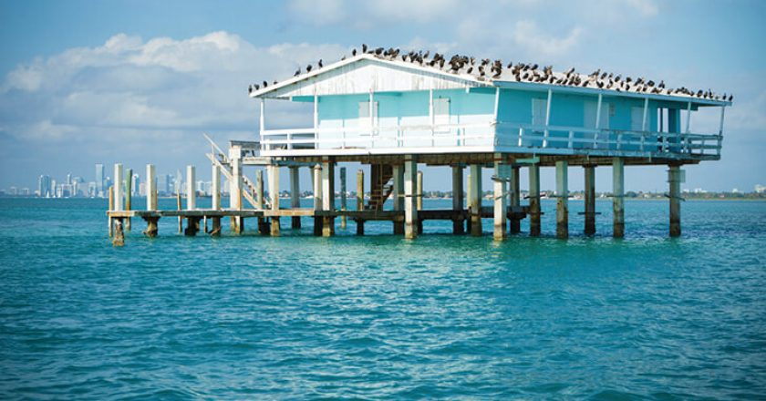 A fishing shack in Stiltsville near Miami.