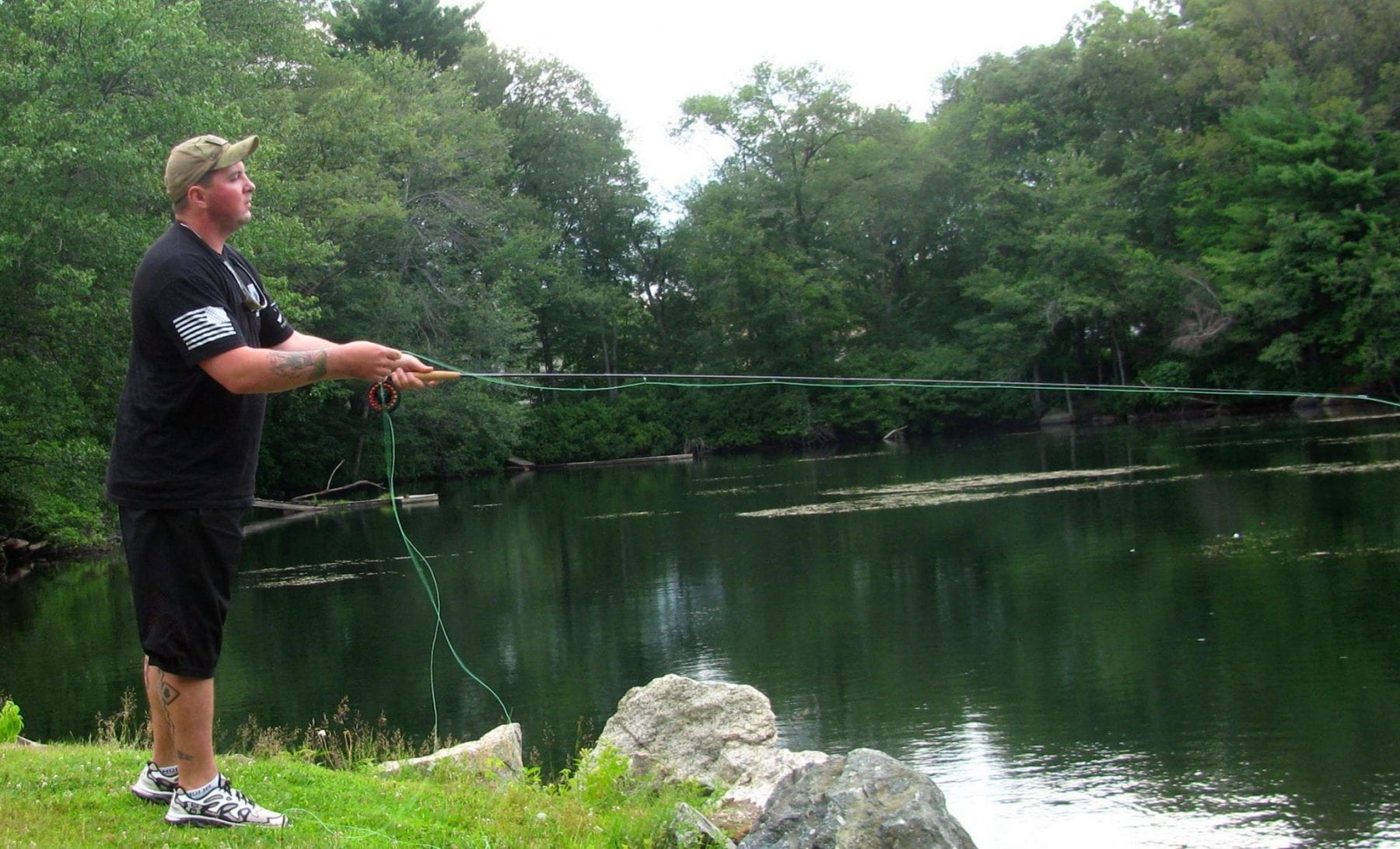 Helping disabled veterans heal with fly fishing project for Healing waters fly fishing