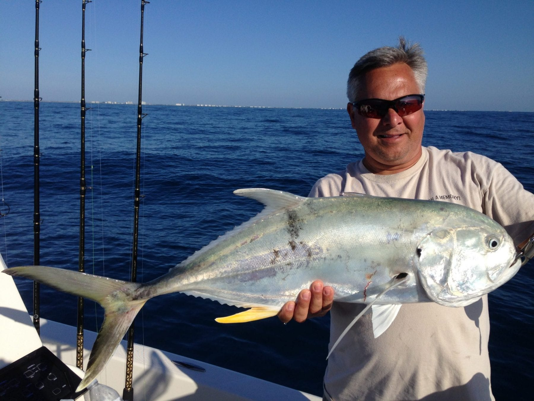 Giant jack crevalle are just one of the powerful species that are possible at Canaveral this month.  Tim Lessing got his on a live pogie (menhaden) and VMC circle hook.
