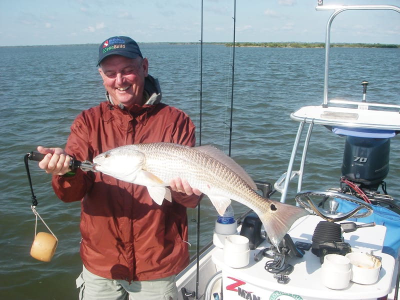 Paul loved the fight of the redfish. He and Kim decided to try their luck on the Mosquito Lagoon after attending a recent seminar given by Capt. Mark Wright.