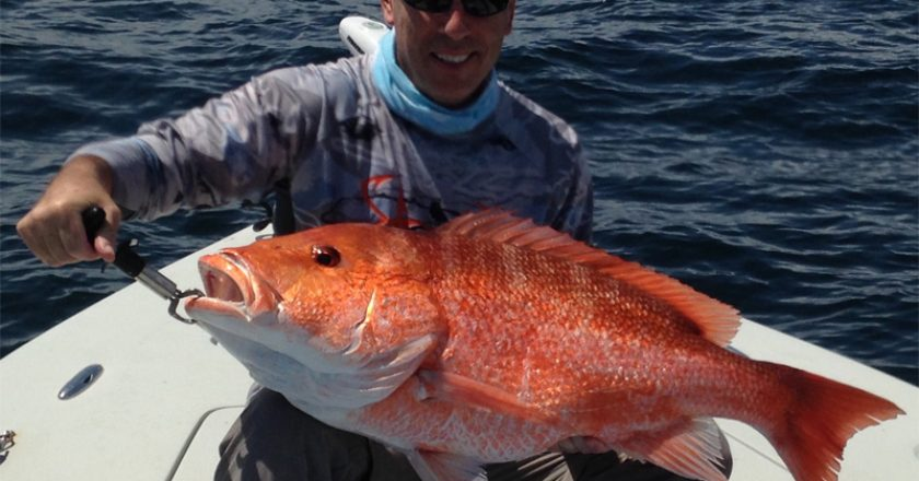 CAM Co-publisher Paul Caruso takes a day off from the magazine to catch a nice red snapper with Underdog Fishing Charters (pg#18).