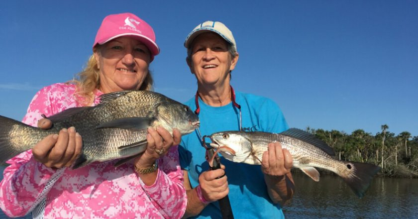 Melanie gay black drum and Debbie smith redfish